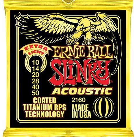 Stringssnar Gitar Ernie Coated Slinky Coated news ernie slinky acoustic titanium audiofanzine