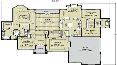 Ranch Style Floor Plan by Open Ranch Style Home Floor Plan Luxury Ranch Style Home