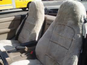 Sheepskin Car Seat Covers California Mikes Canvas Sheepskin Seat Covers