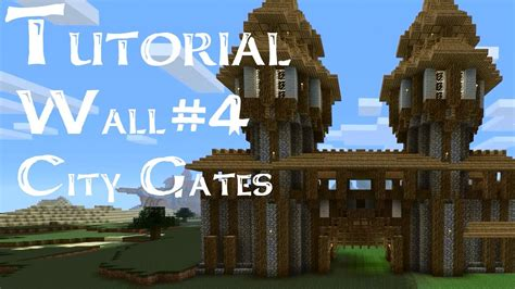 minecraft boat gate medieval tutorial how to build medieval city walls and