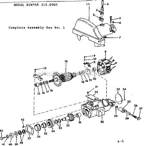 Craftsman Radial Arm Saw Motor Unit 3158000