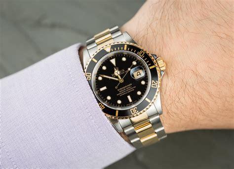 Rolex Black Gold rolex submariner 16613 black and gold bezel