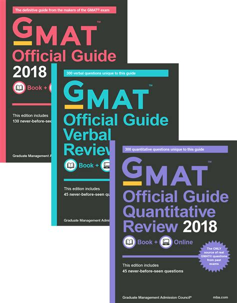 gmat official guide 2018 bundle books gmat 174 review