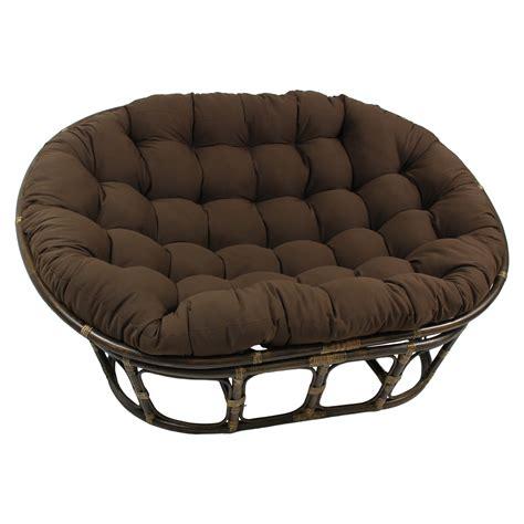 International caravan rattan double papasan chair with micro suede cushion amp reviews wayfair