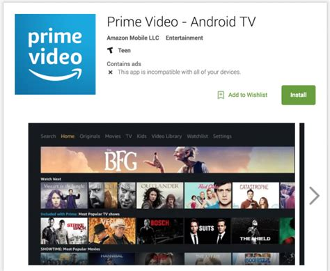 prime on android prime comes to android tv but you can t it yet