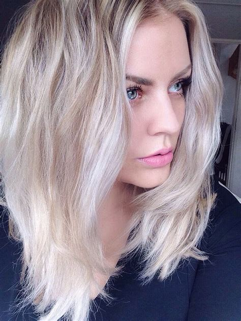 long bob haircut pale skin cabelo loiro platinado 2017 tend 234 ncias e fotos