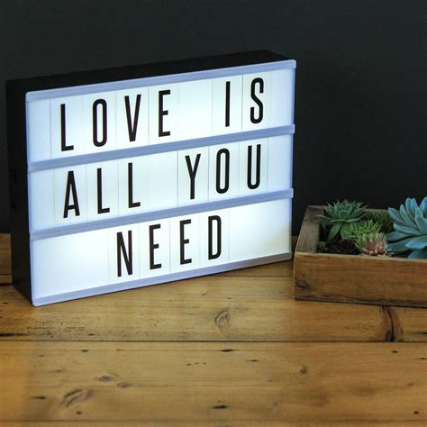 cinematic light box home decoration letter light box