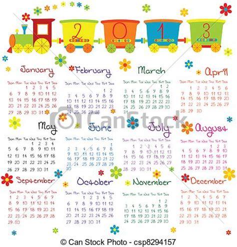 doodle kalender vector illustratie doodle kalender 2013 csp8294157