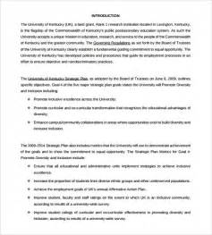 affirmative policy template sle affirmative plan 9 documents in pdf