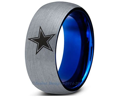 Wedding Rings Dallas by Special Sale Dallas Cowboys Blue Dome Tungsten Wedding