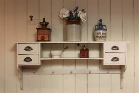 wall drawers uk french painted wall shelf with drawers 244314