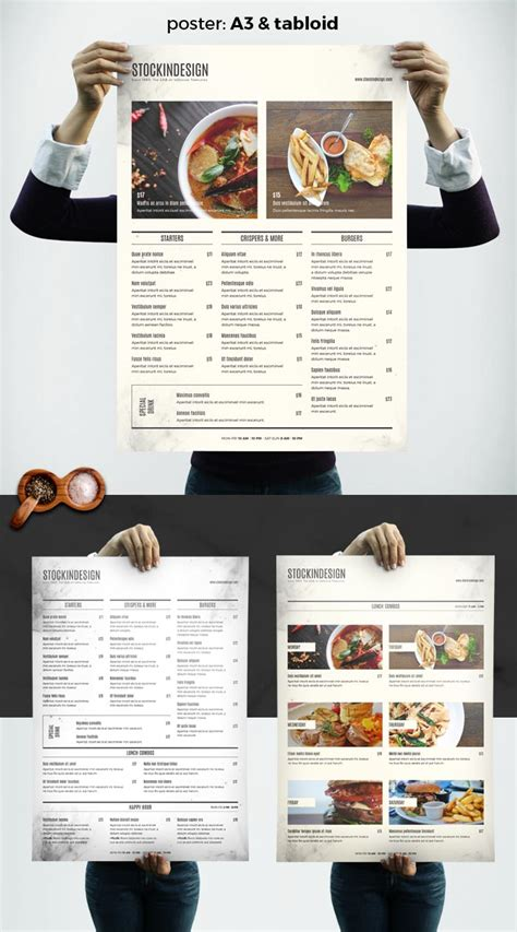 menu template indesign food menu template adobe indesign templates for restaurants