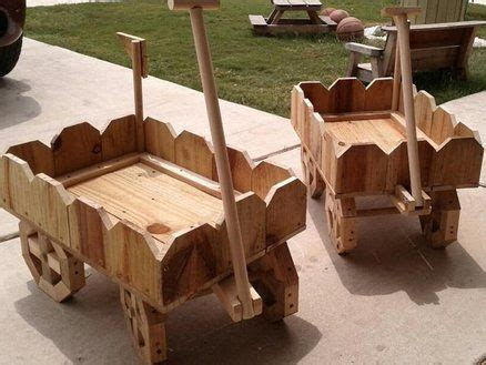 wooden wagon planter woodworking projects