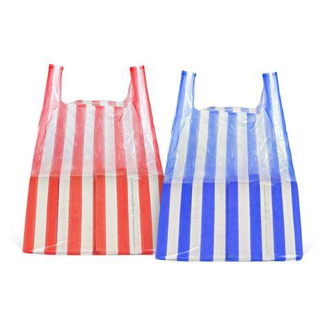 Carrier Bags by Medium Stripe Vest Carrier Bags Plastic Carrier