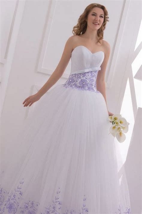 White Purple Dress purple wedding dresses