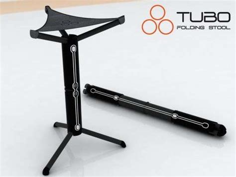 Collapsible Chair foldable tripod seating tubo folding stool