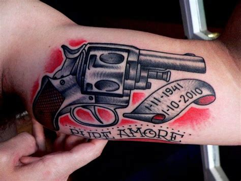 tattoo old school revolver gun tattoos for men ideas and inspiration for guys