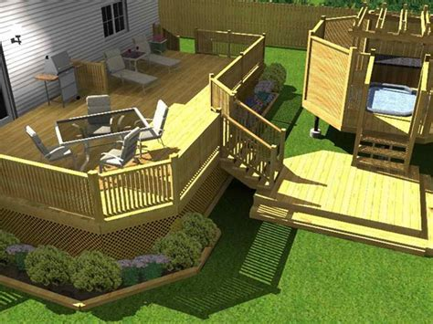 bloombety cheap backyard deck ideas with render cheap
