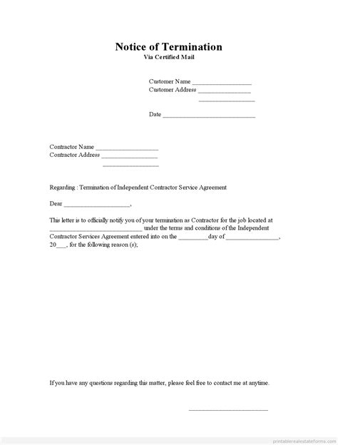 employee termination letter template job contract termination letter