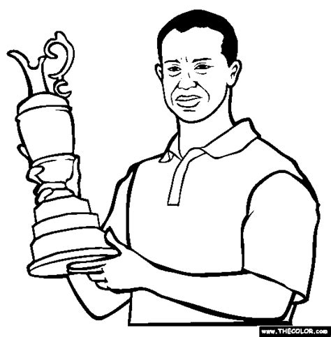 tiger woods coloring page online coloring pages starting with the letter tbrowse