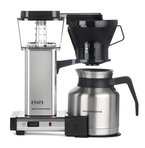 Amazon.com: Moccamaster 79212 KBTS 8 Cup Coffee Brewer with Thermal Carafe, Polished Silver