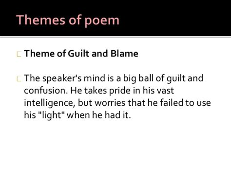 themes gods are not to blame johnmilton on his blindness final please email me if you