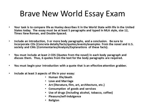 thesis statement for brave new world brave new world reservation essay