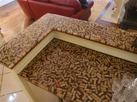 Unique Bar Top Ideas by Marvelous Cork Designs With Glass On Top Of