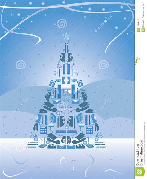 office supply christmas tree stock photo image 22363430