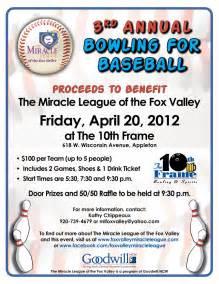 Baseball Fundraiser Flyer Template by Fundraiser Bowling
