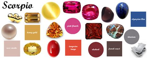 scorpio color scorpio zodiac gemstones and pantone color matches