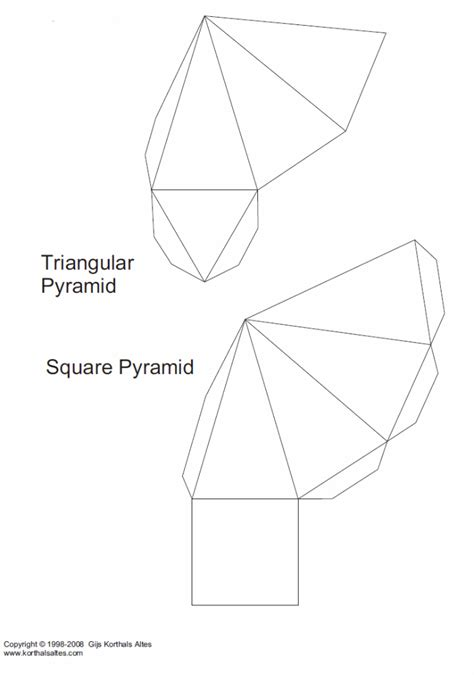 How To Make A 3d Triangular Pyramid Out Of Paper - paper pyramids of the same height