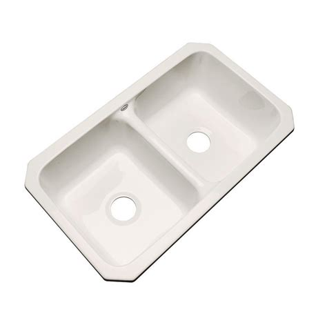 acrylic undermount kitchen sinks thermocast newport undermount acrylic 33 in double bowl