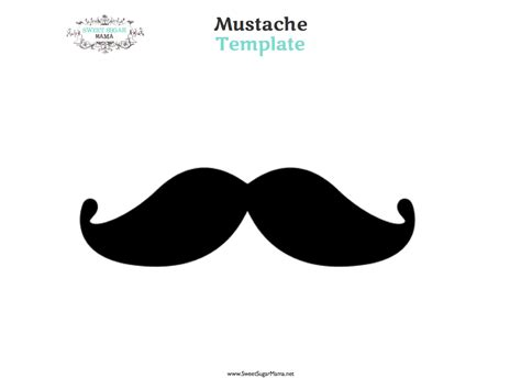 mustach template best photos of cut out printable mustache template