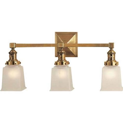 Bathroom Light Fixtures Brass Visual Comfort And Company Antique Brass Boston Square Three Light Fixture On Sale