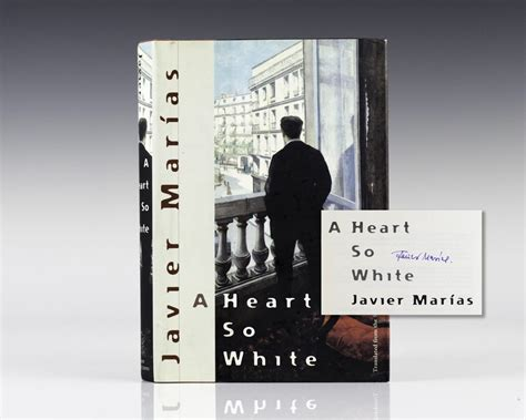 a heart so white 0141199954 a heart so white javier marias first edition signed rare book