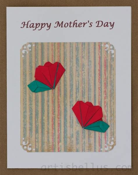 Mothers Day Origami - origami artis bellus s day card primrose bud