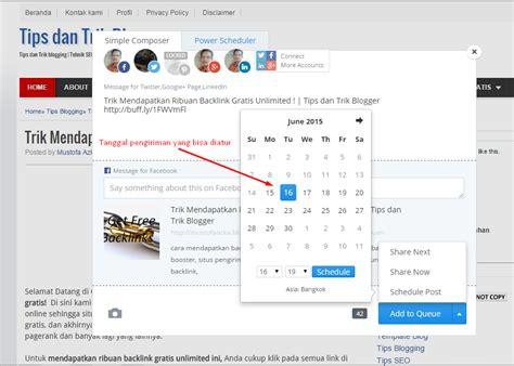 manfaat membuat jadwal kegiatan adalah trik mengirim posting blog secara otomatis ke facebook dan