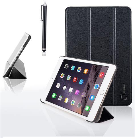 Smart Leather For Mini 4 genuine inventcase smart cover leather stand for