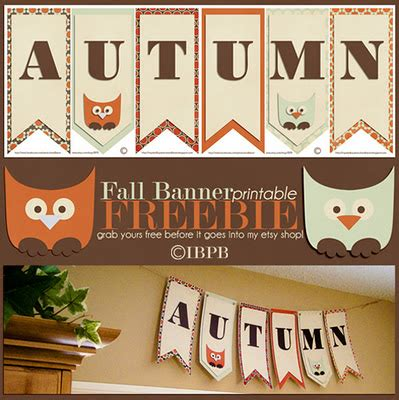 free printable autumn banner fall printables 4 mom