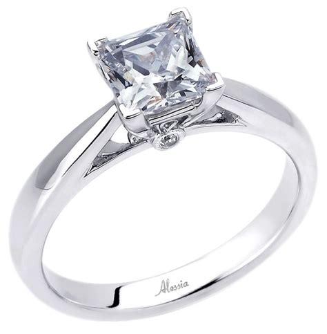 princess cut engagement ring beautiful 4 prong