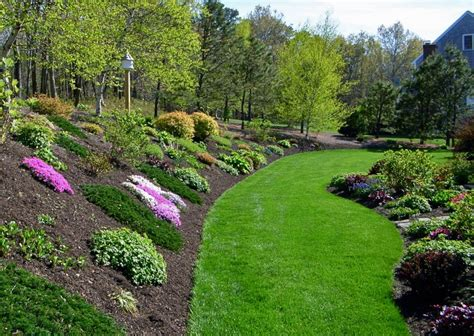 landscape ideas for hilly backyards planting ideas for a hill side gardening with flowers