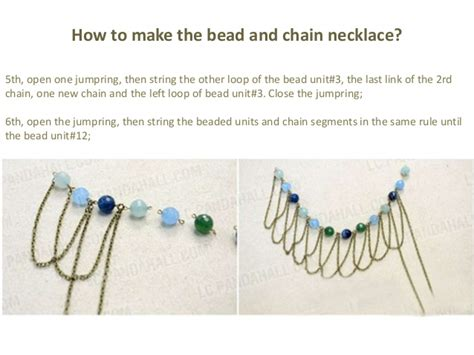 how to make chain 3 easy steps of a chic bead and chain fringe necklace