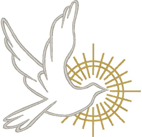 Holy Spirit Dove Outline by Dove In Outline 2 Embroidery Design