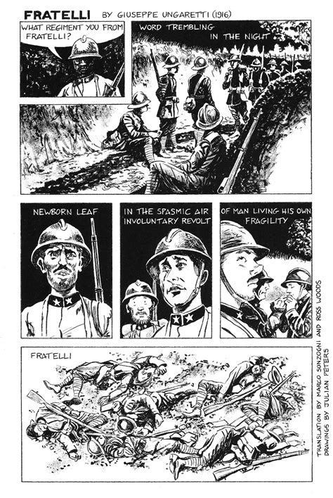 fratelli ungaretti testo fratelli by giuseppe ungaretti julian peters comics