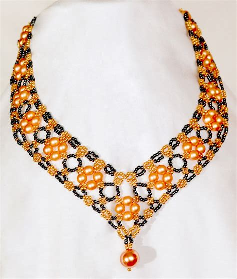 the bead jewelry free pattern for beautiful beaded necklace margaret