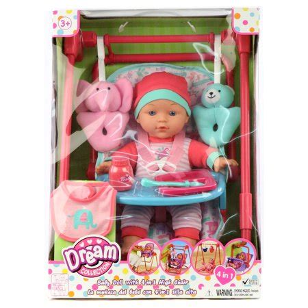 baby doll high chair set collection 12 quot baby doll 4 in 1 high chair play set