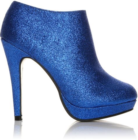 rakuten h20 blue glitter stilleto high heel ankle