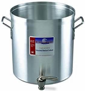 stock pot with faucet alegacy eagleware ew40f professional aluminum