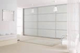sliderobes fitted sliding wardrobe doors in white glass silver